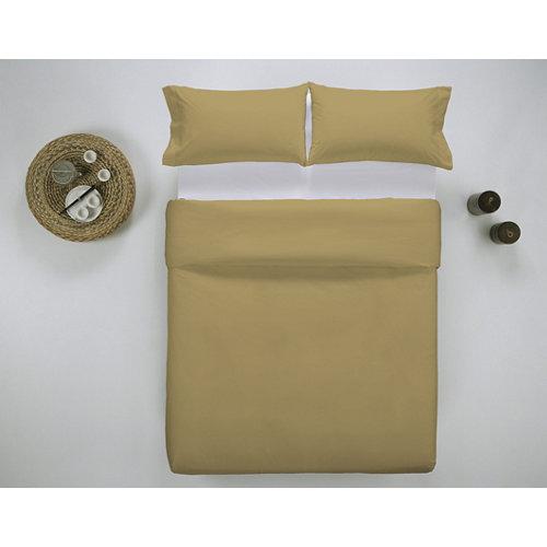 Funda nórdica cama 200cm percal liso mostaza w.g.