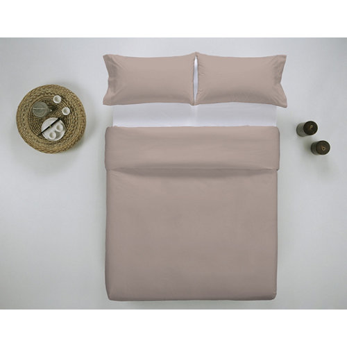Funda nórdica cama 200cm percal liso smokey pink w.g.