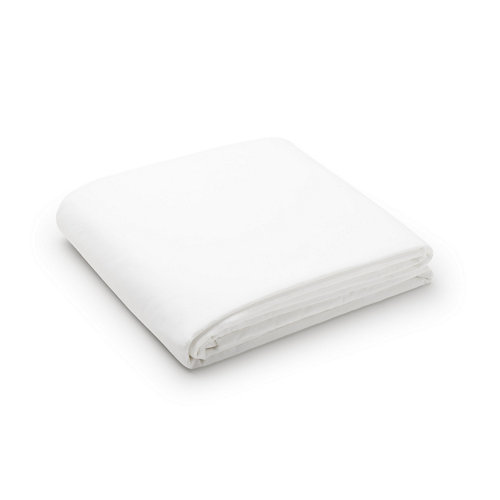 Sabana encimera cama 90cm percal liso blanco óptico w.g.
