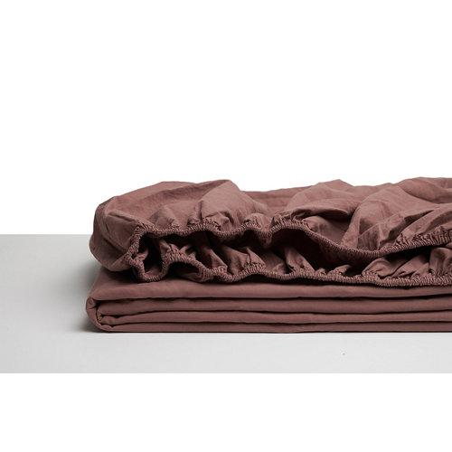 Sabana bajera ajustable cama 135cm percal liso teja w.g.
