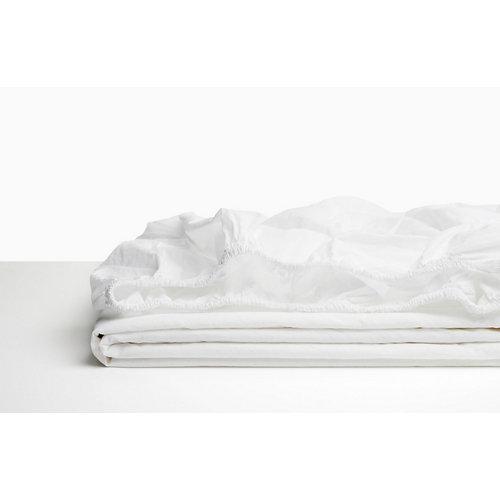 Sabana bajera ajustable cama 150cm percal liso bl ópt w.g