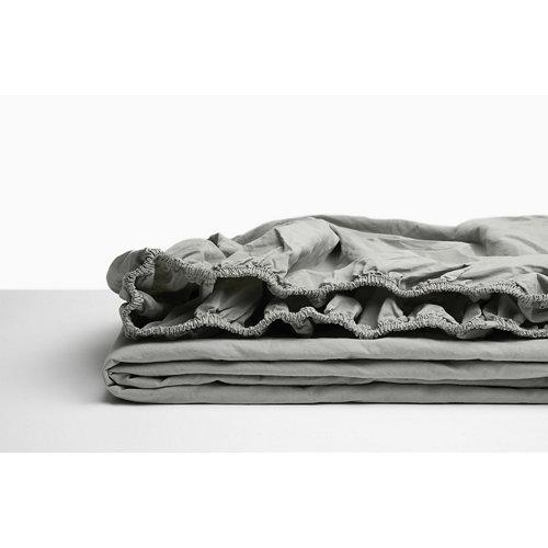 Sabana bajera ajustable cama 150cm percal liso helecho w.g.
