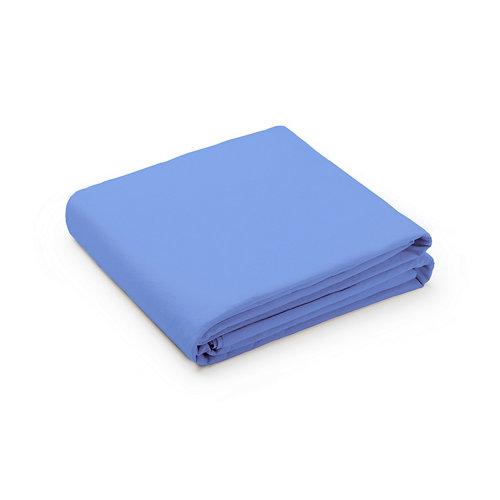 Sabana encimera cama 135/150cm percal liso baby blue w.g.
