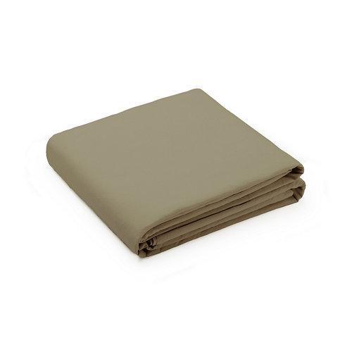 Sabana encimera cama 180cm percal liso bronce w.g.
