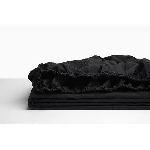 Sabana bajera ajustable cama 200cm percal liso negro w.g.