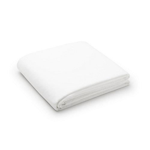 Sabana encimera cama 200cm percal liso blanco óptico w.g.