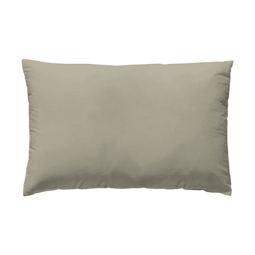 Funda almohada 45x110 cama 90cm percal liso avena w.g.