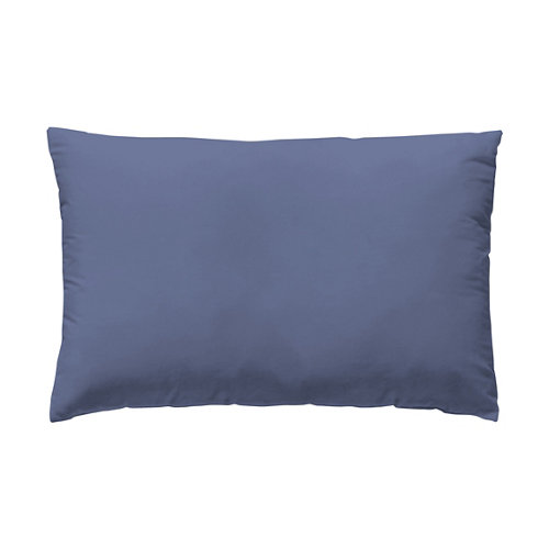 Funda almohada 45x110 cama 90cm percal liso blueberry w.g.