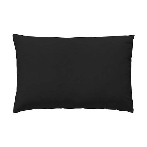 Funda almohada 45x110 cama 90cm percal liso negro w.g.