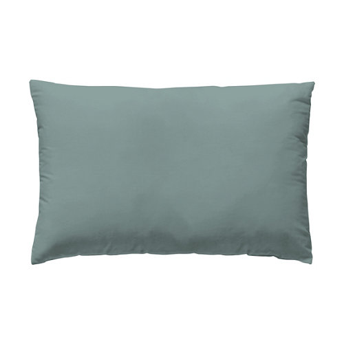 Funda almohada 45x125 percal liso cama 135cm menta w.g.