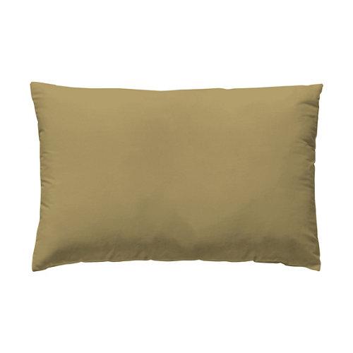 Funda almohada 45x125 percal liso cama 135cm mostaza w.g.