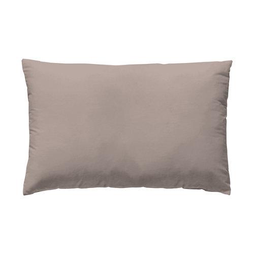 Funda almohada 45x125 percal liso cama 135cm smokey pink