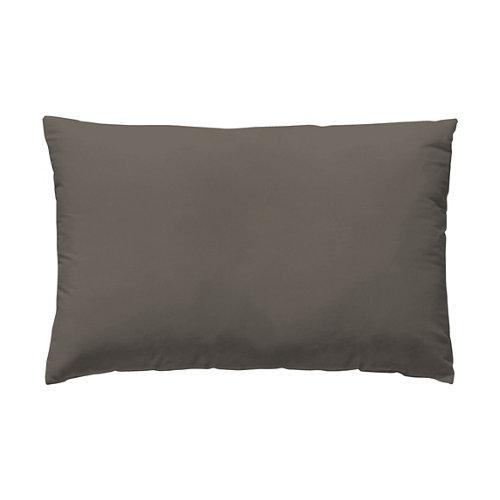 Funda almohada 45x125 percal liso cama 135cm taupe w.g.