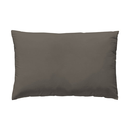 Funda almohada 50x75 percal liso taupe w.g. pack 2 und