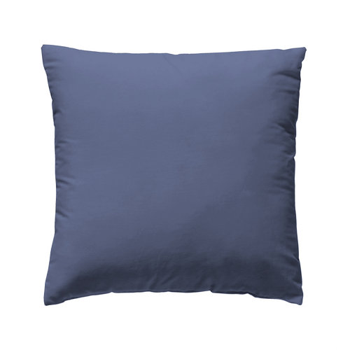 Funda cojín 60x60cm percal liso blueberry w.g. pack 2 und