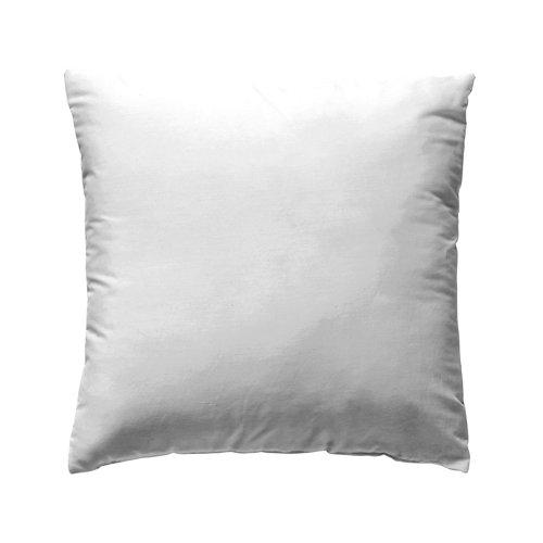 Funda cojín 60x60cm percal liso blanco óptico w.g. pack 2und
