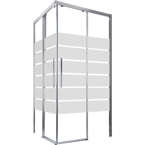 Mampara cuadrada corredera cool free transparente perfil cromado 70x90 cm
