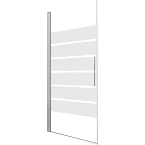 Mampara batiente cool life serigrafiado perfil cromado 90x200 cm