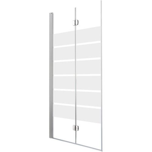 Mampara plegable cool life serigrafiado perfil cromado 80x200 cm