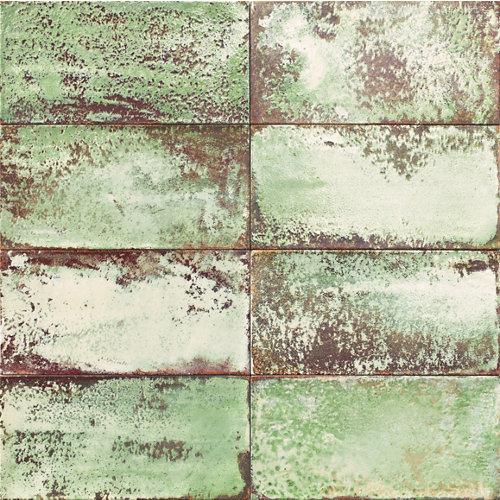 Ceramica cocinas y baños/atelier/mainzu/verde granilla 15x30