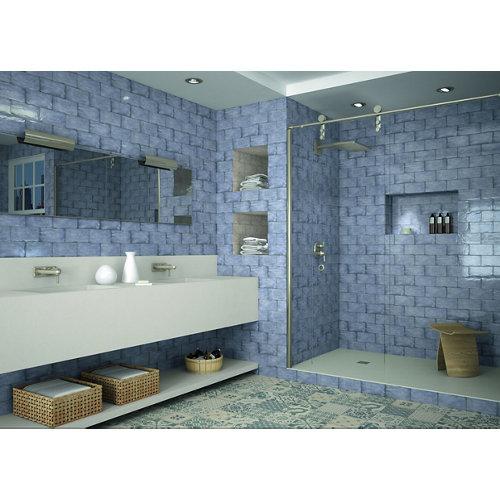 Baldosa cerámica de 20x20 cm en color blanco / azul