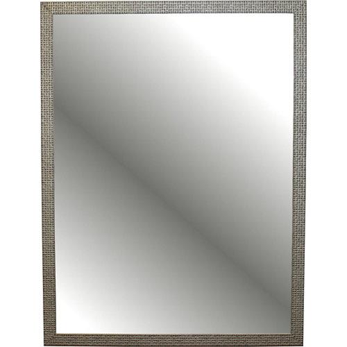 Espejo de baño milo amarillo / dorado 60 x 80 cm