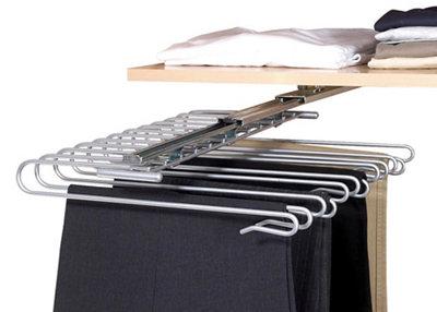 Colgador extraíble de armario para pantalones 33x47x10 cm