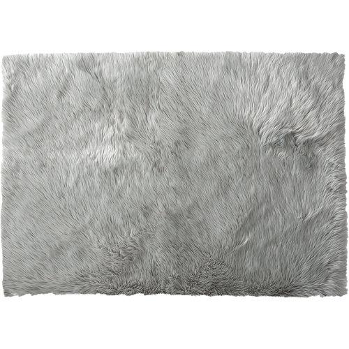 Alfombra pie de cama color gris acrílico skin silver 70 x 120cm