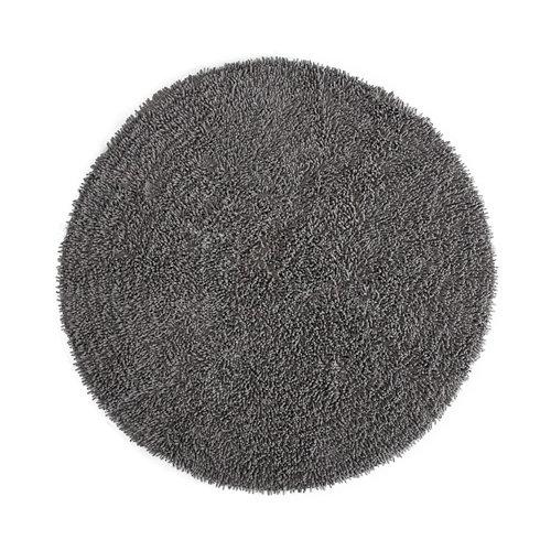 Alfombra gris chenilla syssi grey 140 x 140cm