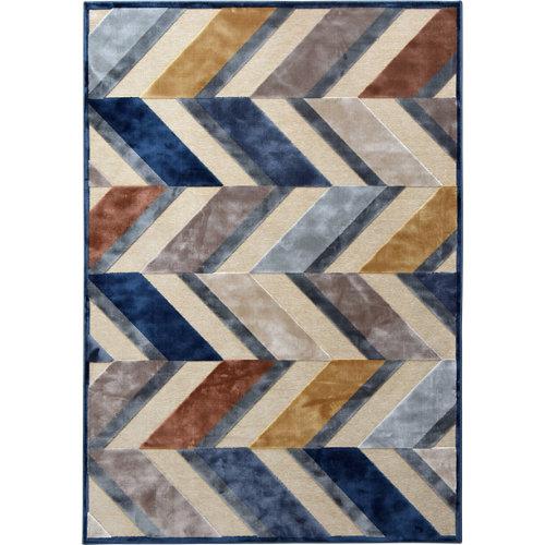 Alfombra azul viscosa provence 160 x 230cm