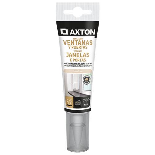 Silicona neutra para ventanas y puertas axton 60 ml transparente