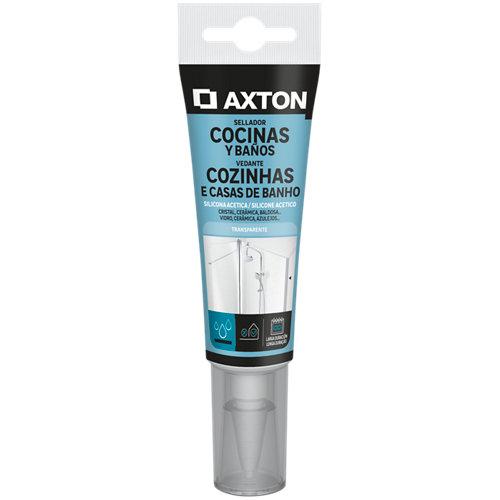 Silicona acética para cocinas y baños axton 60 ml transparente