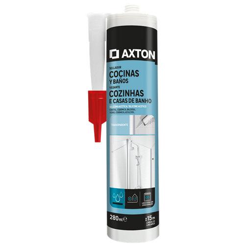 Silicona para cocinas y baños axton 280 ml transparente