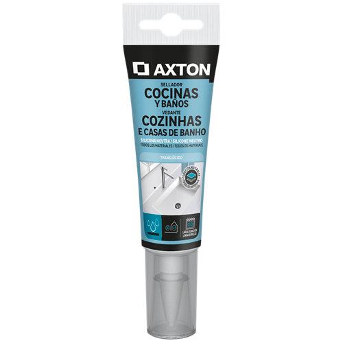 Silicona neutra para cocinas y baños axton 60 ml transparente