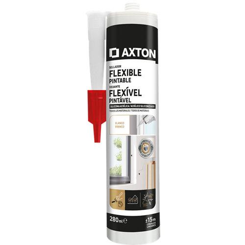 Masilla para ventas y puertas flex axton 280 ml blanco