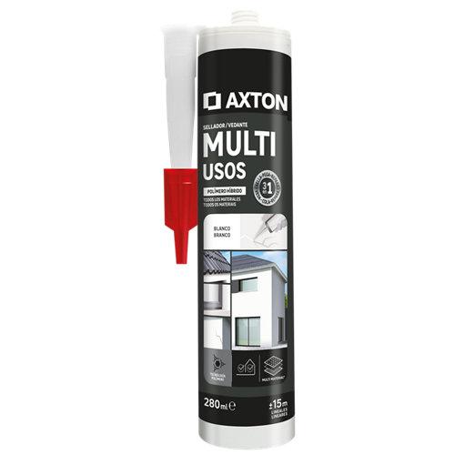 Silicona multiusos axton 280 ml blanco