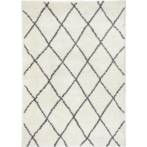 Alfombra blanca microfibra blizz bereber 160 x 230cm