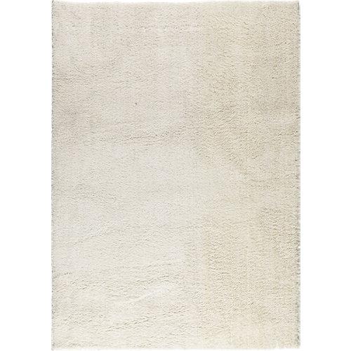 Alfombra blanca microfibra blizz 79800 160 x 230cm