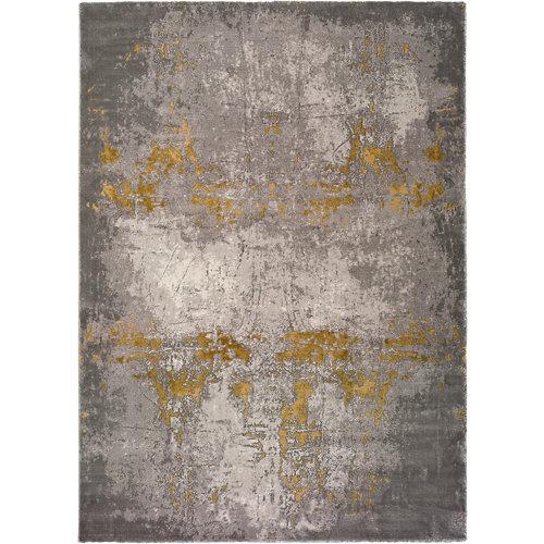 Alfombra amarilla viscosa chantal 23127 43 80 x 150cm