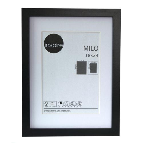 Marco montado milo negro 18x24 cm inspire