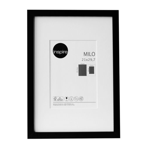 Marco montado milo negro 21x29,7 cm inspire