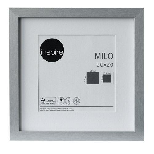 Marco montado milo plata 20x20 cm inspire