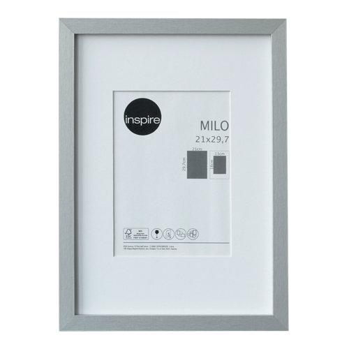 Marco montado milo plata 21x29,7 cm inspire