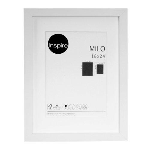 Marco montado milo blanco 18x24 cm inspire