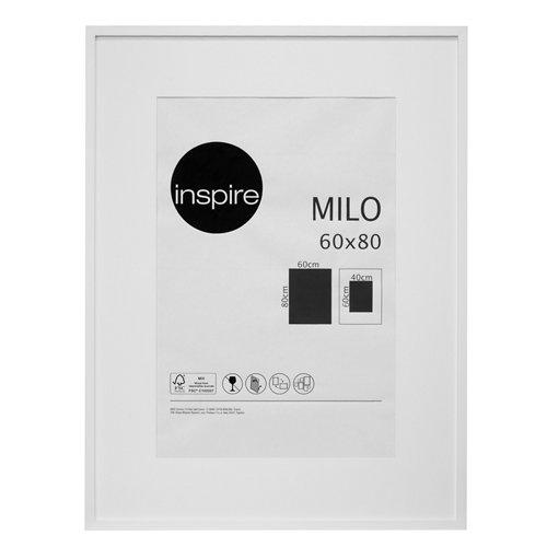 Marco montado milo blanco 60x80 cm inspire