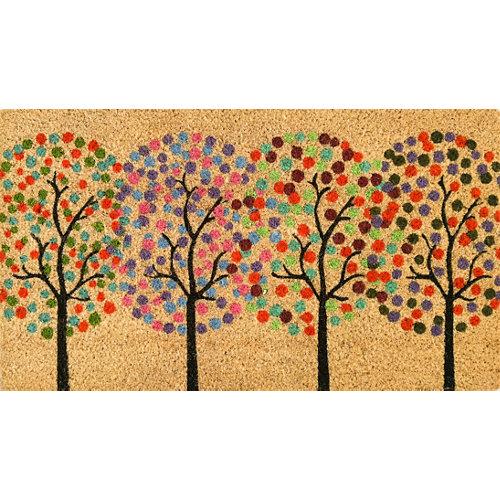 Felpudo multicolor de coco y pvc / coco / pvc 40 x70 cm