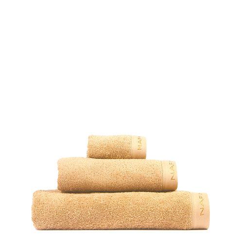 Set baño naf naf casual 30x50+50x100+70x140 cm mostaza