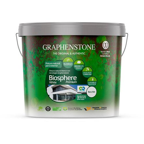 Pintura fachada biosphere premium graphenstone 12,5l blanco