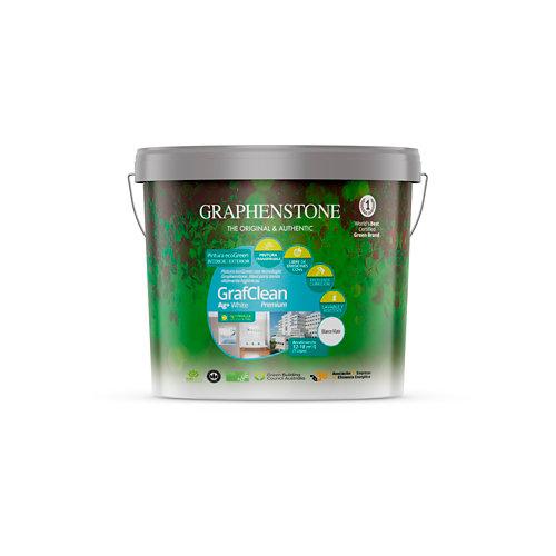 Pintura grafclean ag+ premium graphenstone 4l blanco