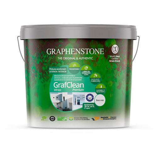 Pintura grafclean premium graphenstone 12,5l blanco